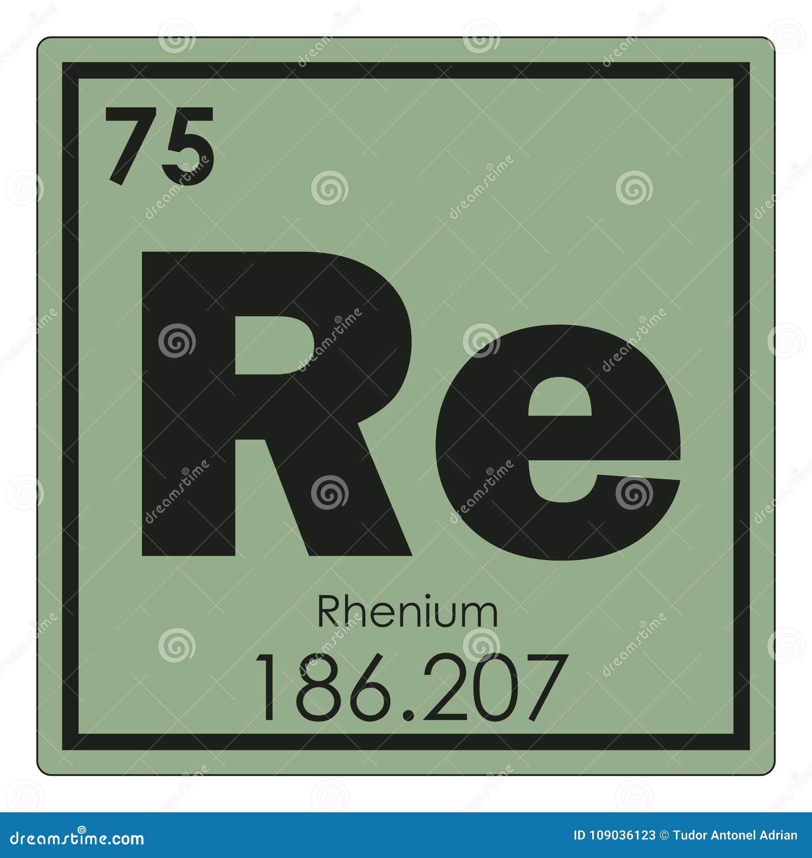 Rhenium Chemical Element Stock Illustration Illustration Of