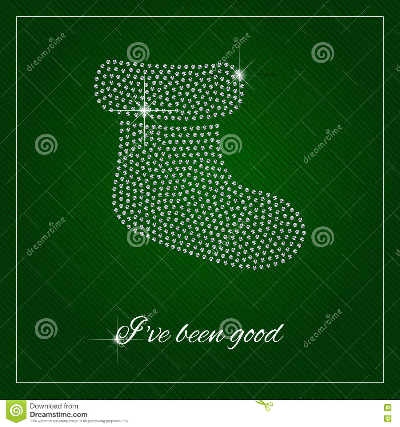 Rhinestone Holiday Season Template Cartoon Vector ...