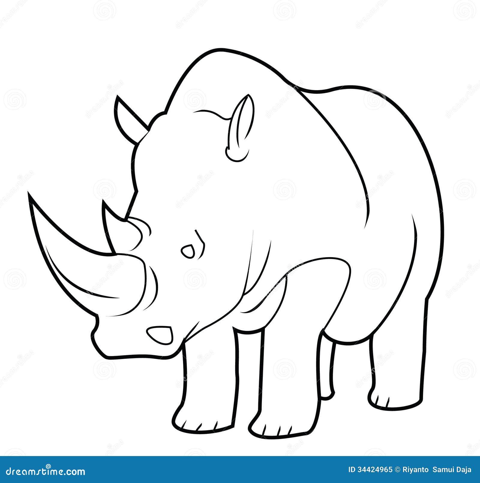 Safari jungle animals clip art and safari animals - Rhino Royalty Free Stock Photo Image 34424965