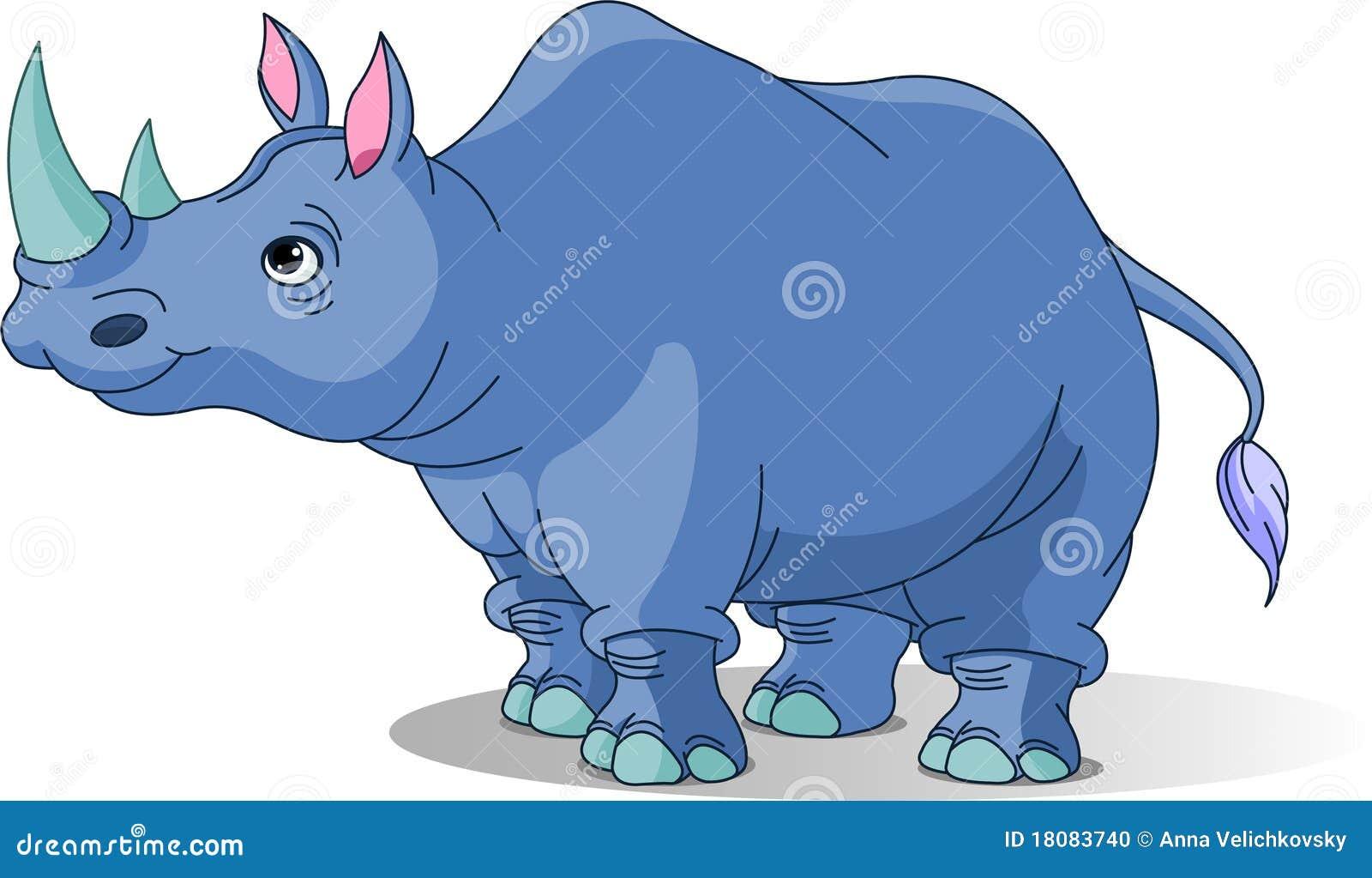 Rhinoc ros de dessin anim photo stock image 18083740 - Rhinoceros dessin ...