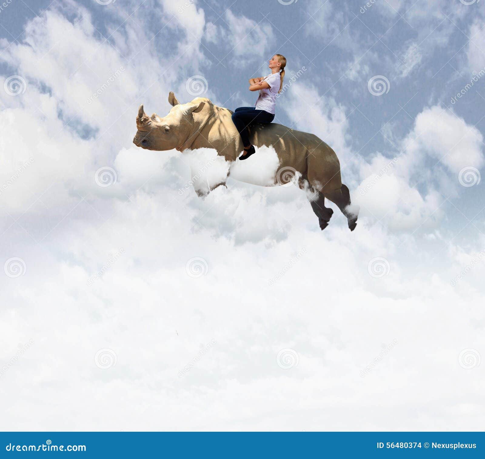 Rhinocéros de vol de femme