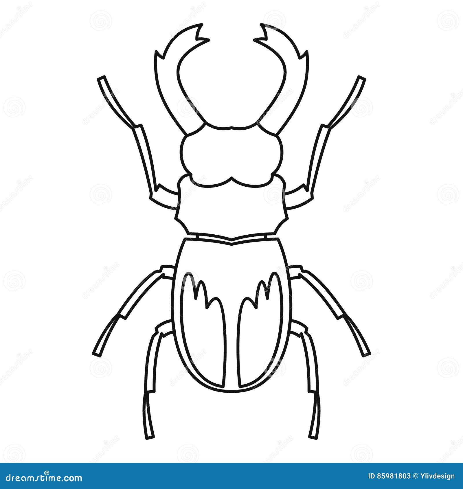 rhinoceros beetle icon outline style stock vector illustration of Praying Mantis rhinoceros beetle icon outline style