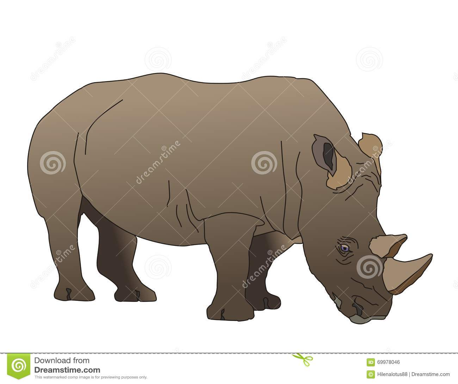Rhinoceros Stock Illustration Image Of Character Huge