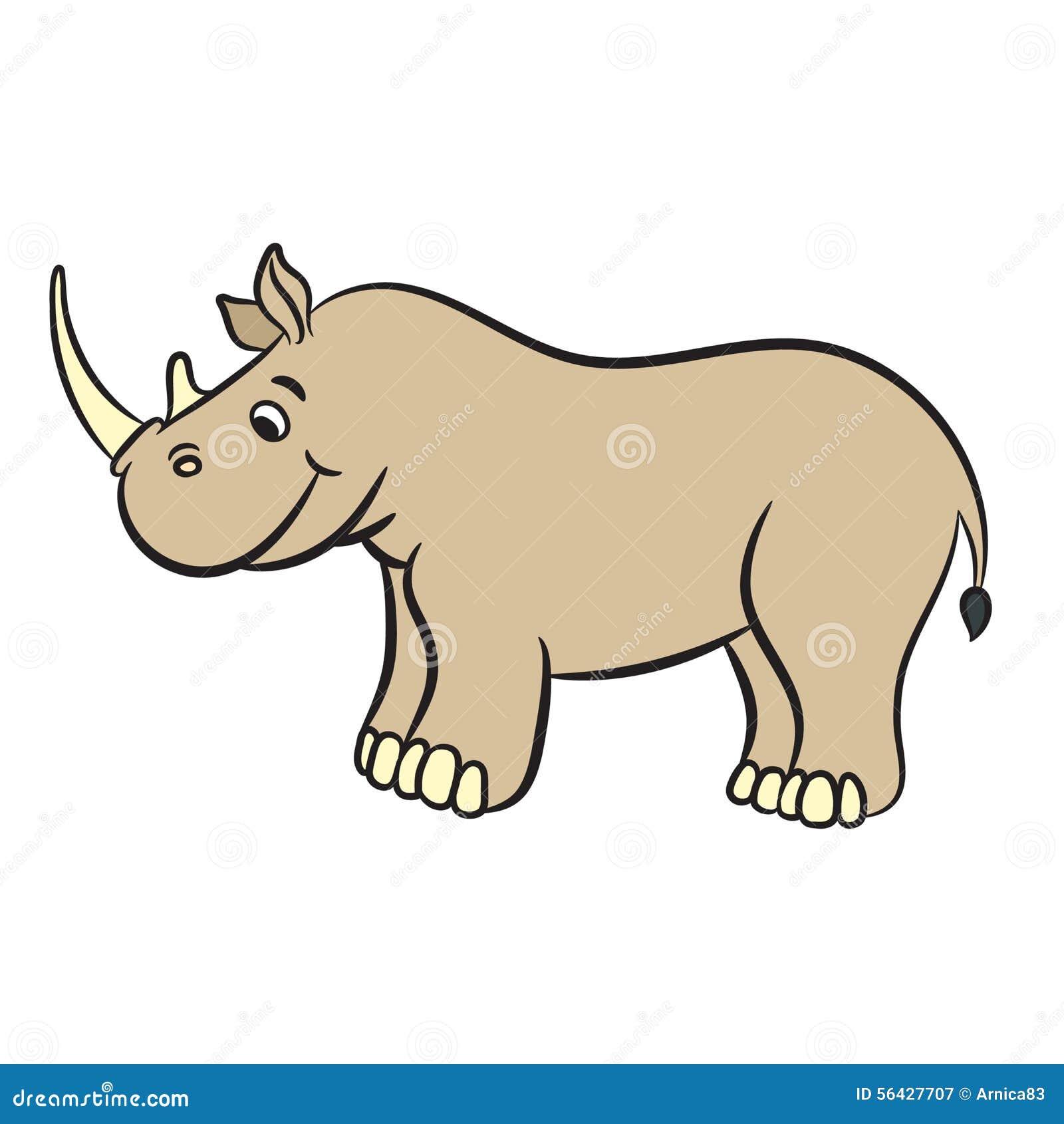 Rhinoc ros mignon de dessin anim illustration de vecteur - Rhinoceros dessin ...