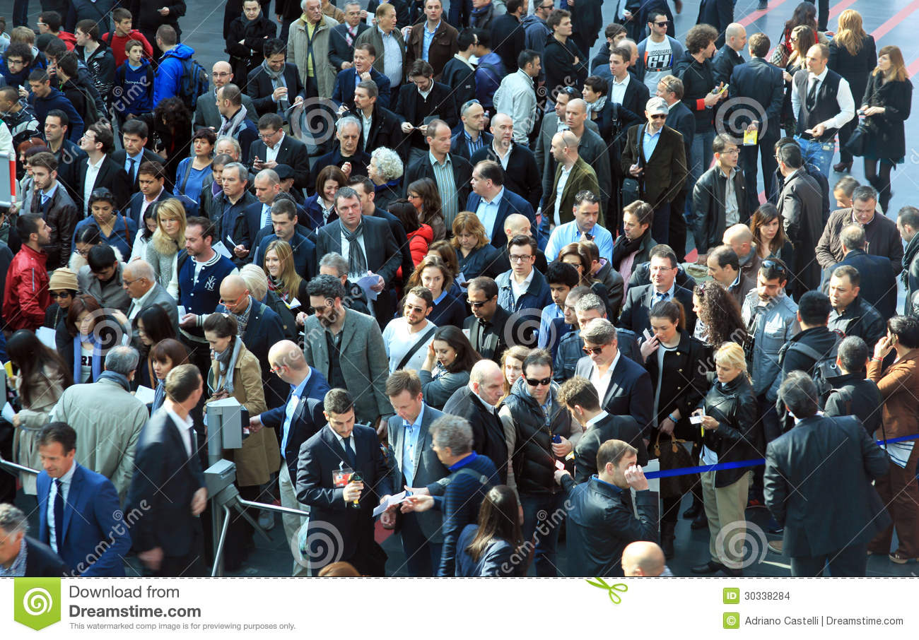 Rho fiera people crowd editorial stock image image for Fiera del mobile rho