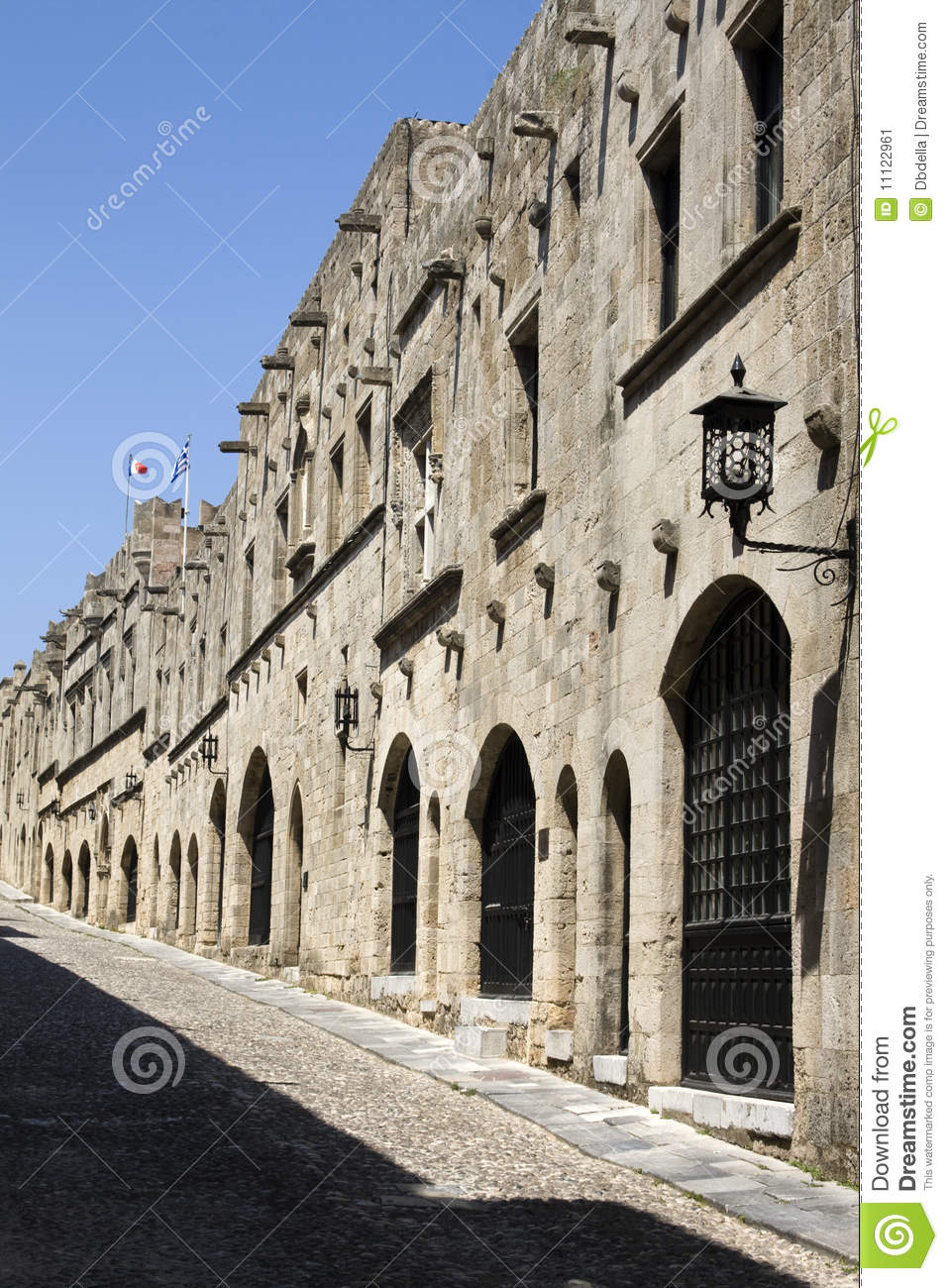 Rhodes - Street Of The Knights Stock Image - Image: 11122961