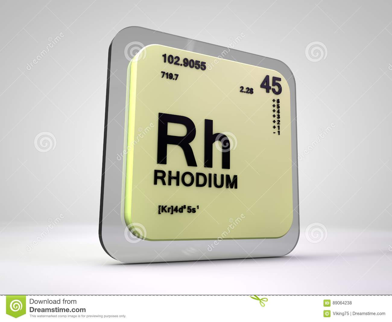 Rhodium rh chemical element periodic table stock illustration rhodium rh chemical element periodic table gamestrikefo Image collections