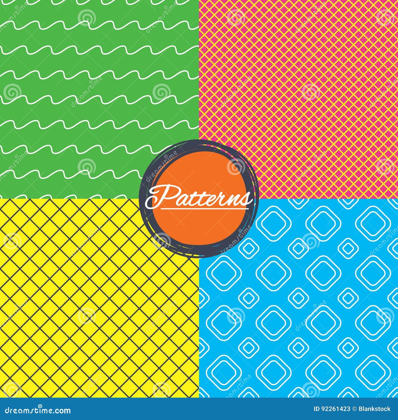 Rhombus siatka i macha linii bezszwowe tekstury