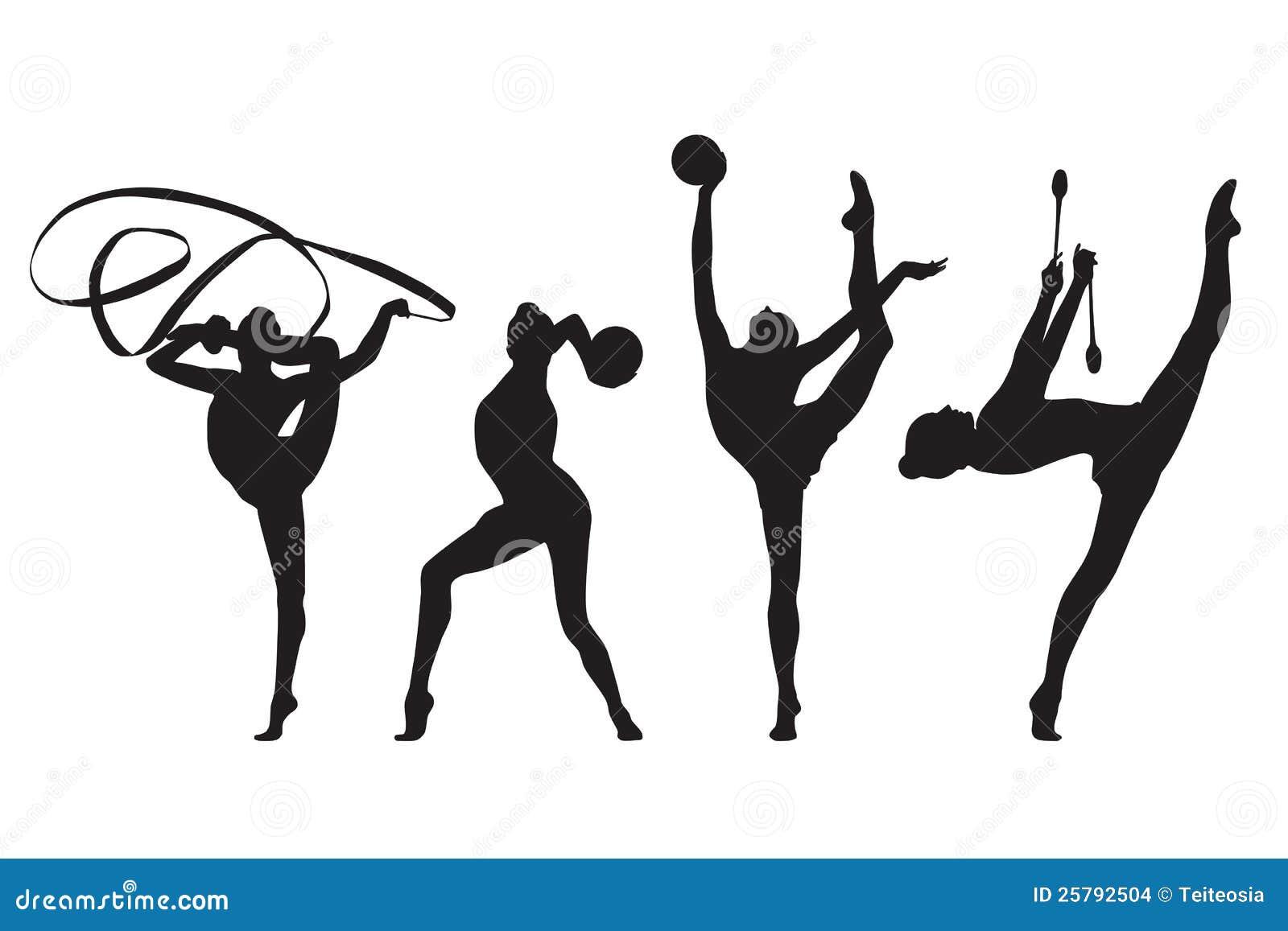 rhythmic gymnastic stock vector illustration of junior