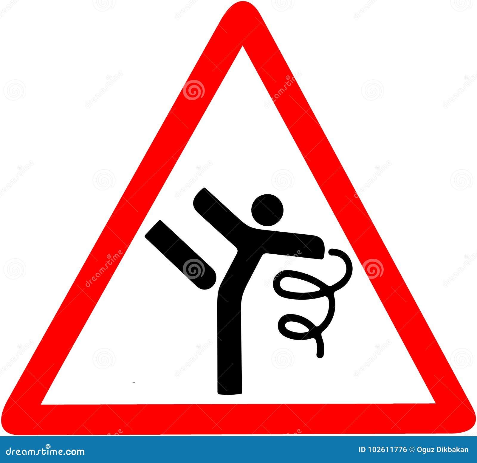 Rhythmic Gymnastics Dance And Dancer Warning Conceptual Illustration