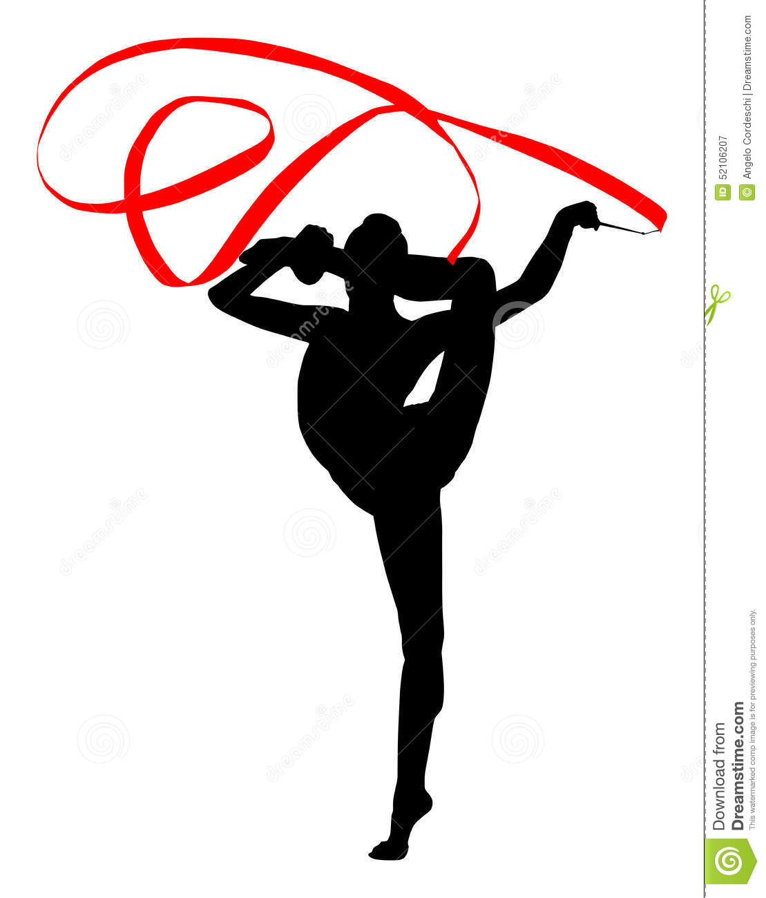 Drawing Of Rhythmic Gymnast Cartoon Vector | CartoonDealer ...