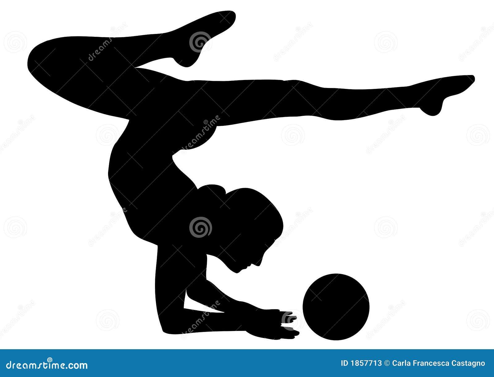 Rhythmische Gymnastik 2  Vectorial Ikone Stockfotos