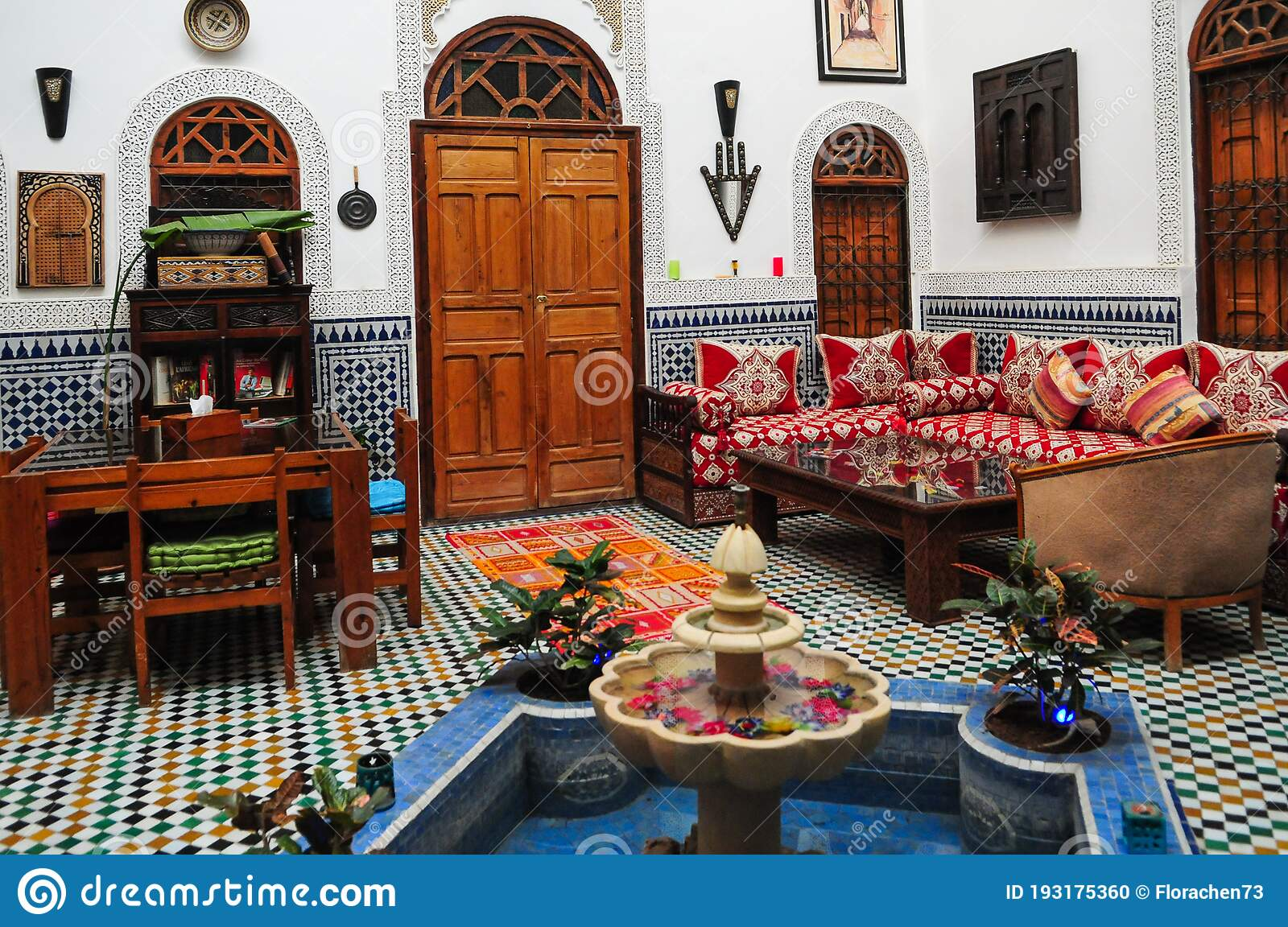 Riad, A Traditional Moroccan House In Fez Stock Photo - Image of
