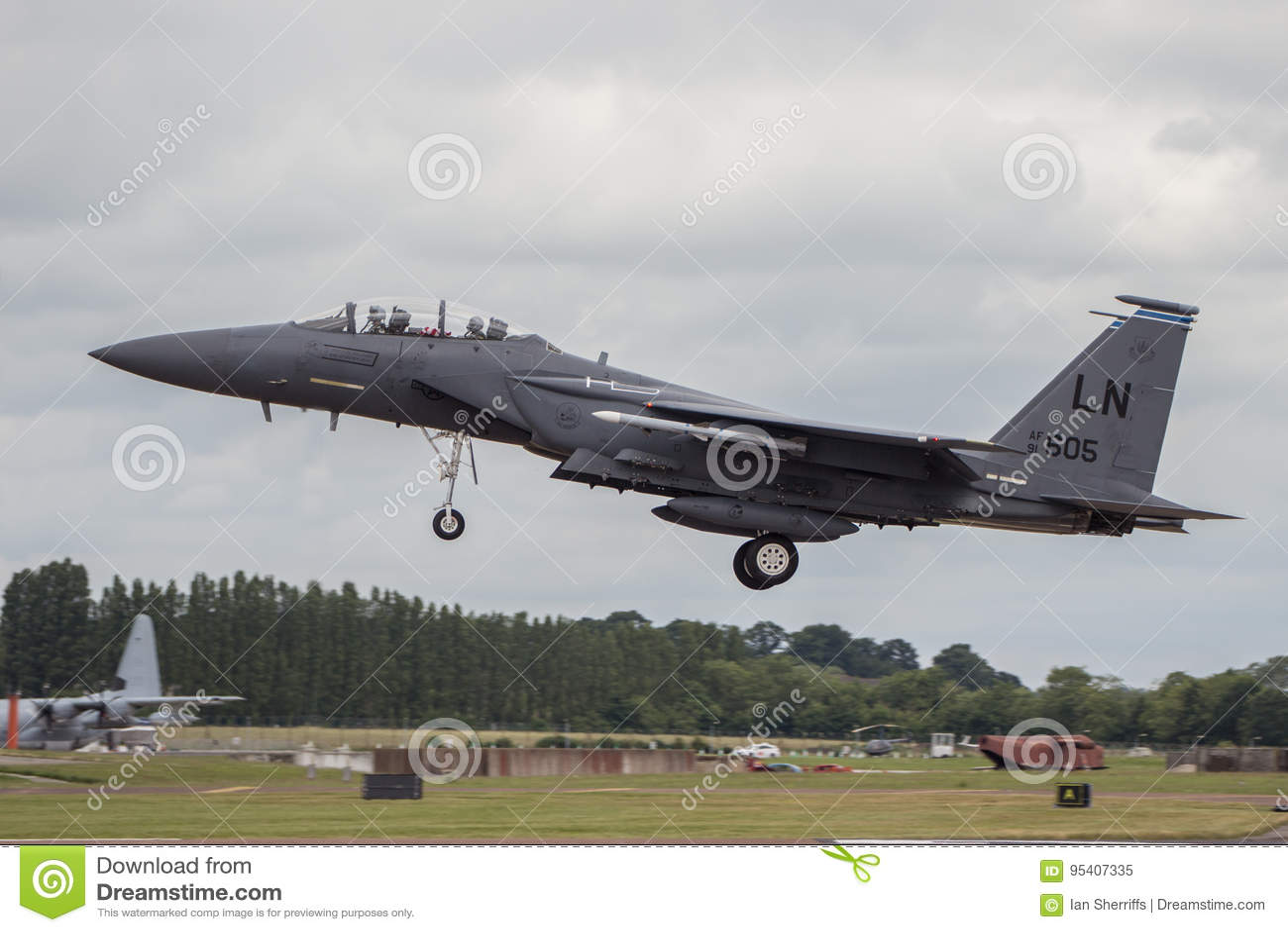 RIAT的美国空军F15土地