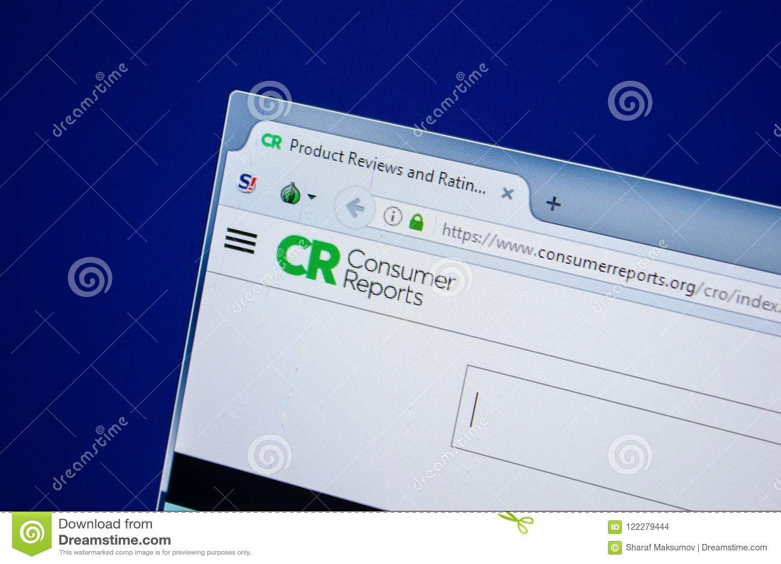 Riazan, Russie - 24 juillet 2018 : Page d accueil de site Web de ConsumerReports sur l affichage du PC URL - ConsumerReports org