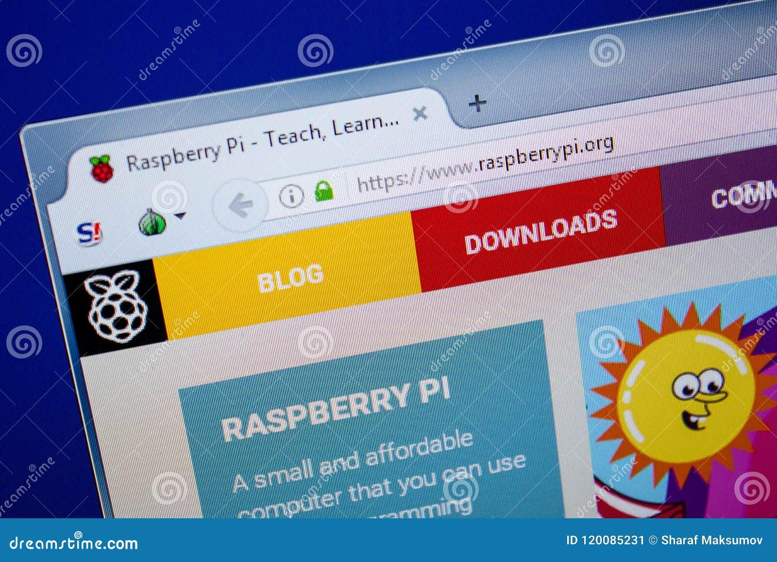Riazan, Russie - 26 juin 2018 : Page d accueil de site Web de RaspberryPI sur l affichage du PC URL - RaspberryPI org