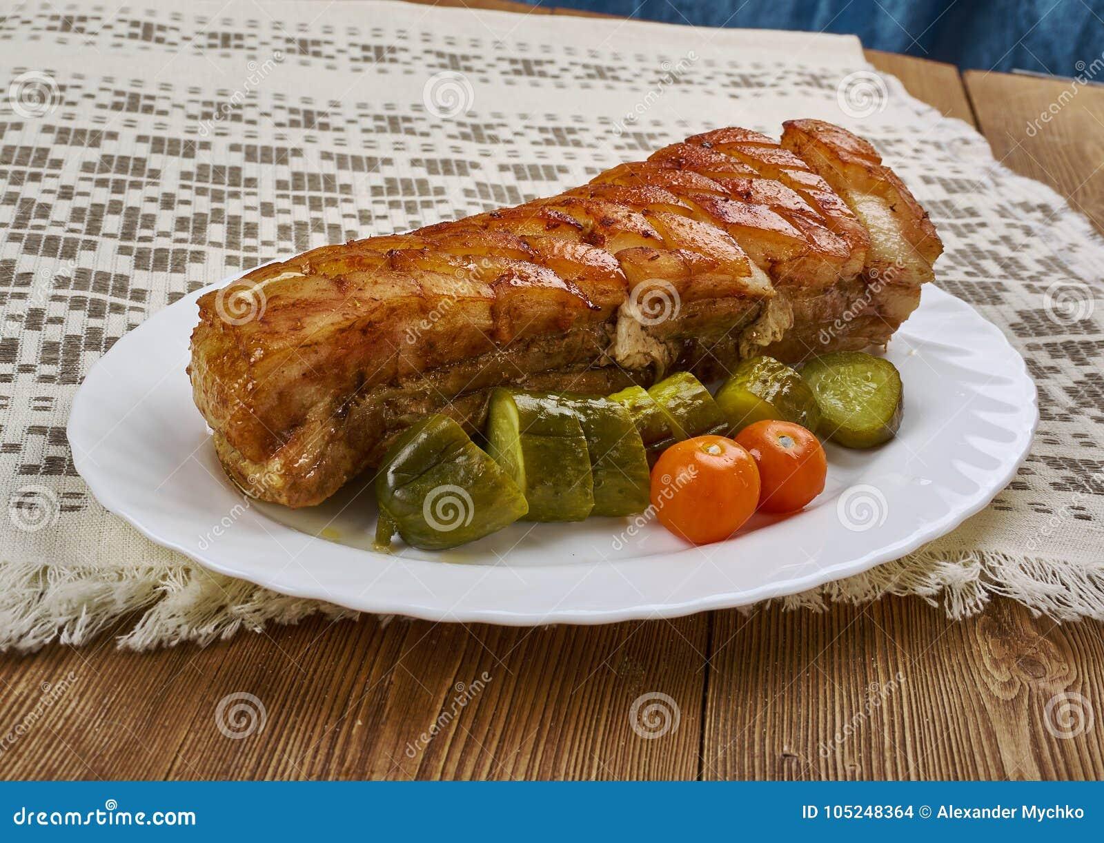 Norwegian Ribbe stock photo. Image of pork, food, rustic - 105248364