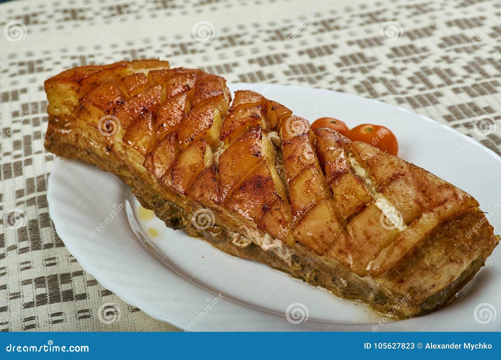 Norwegian Ribbe stock image. Image of food, ribs, ribbs - 105627823
