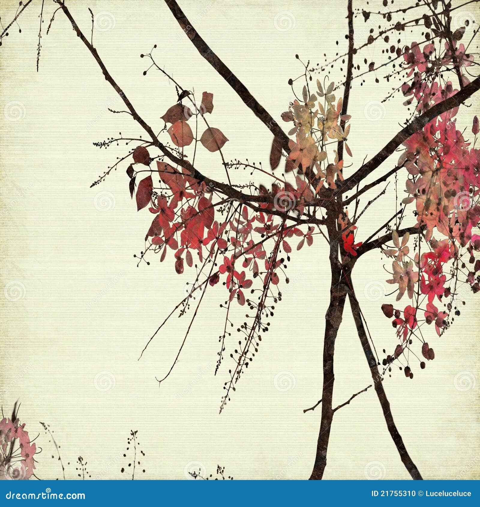 Ribbed blom- papper för konstbakgrund