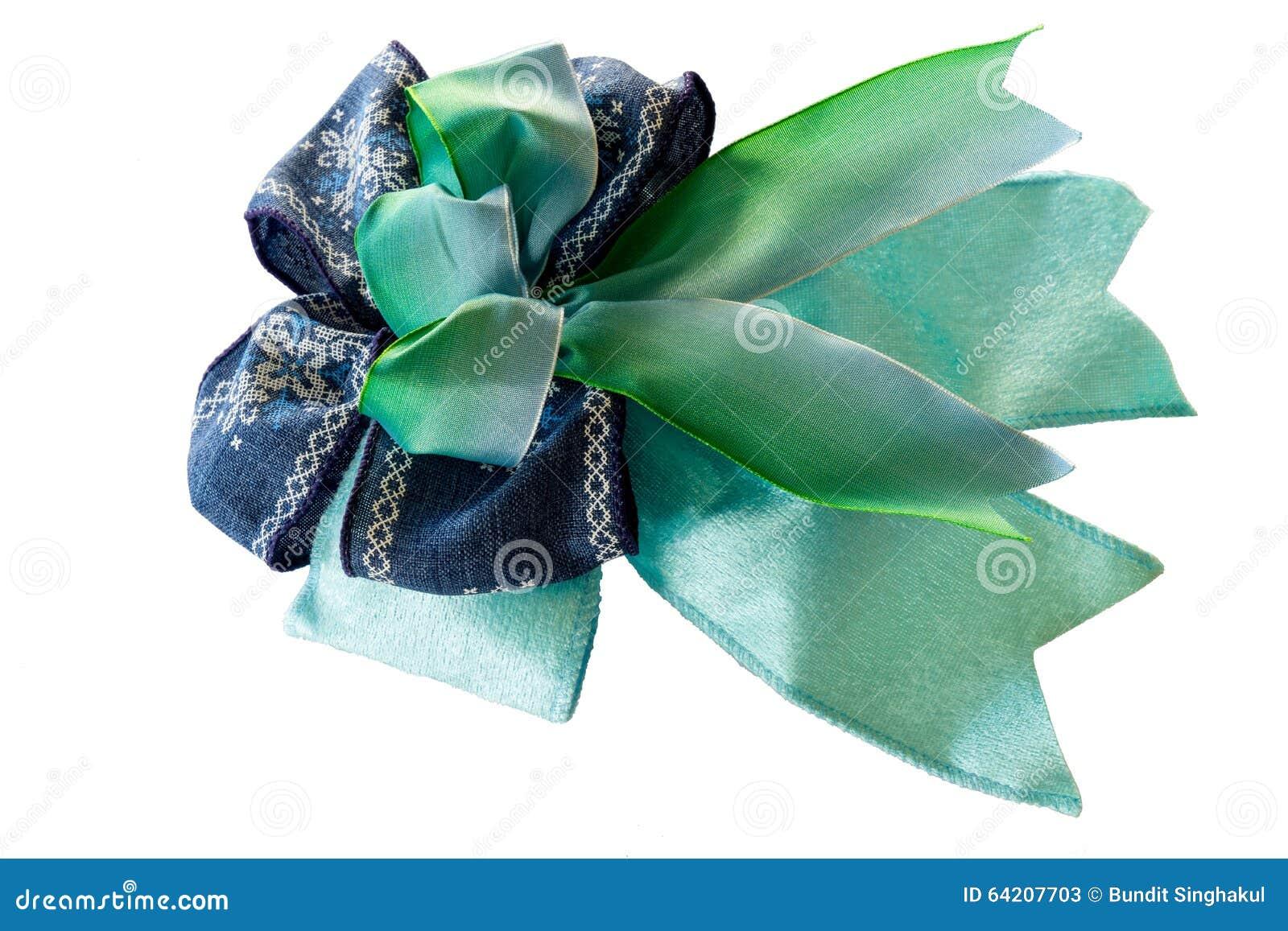 Ribbin azul aislado en blanco
