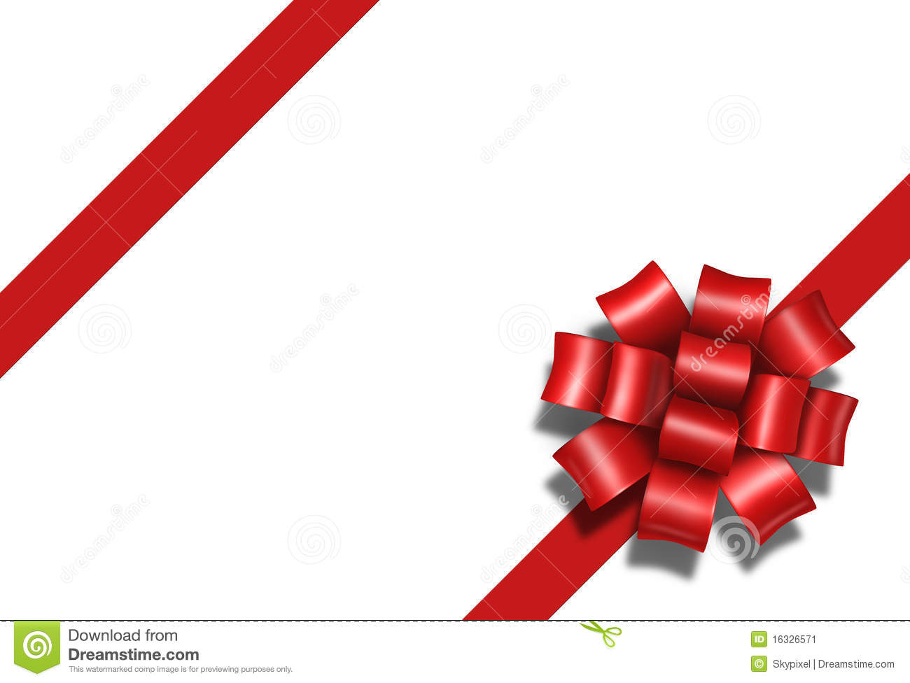 Ribbon Bow Gift Present Diagonal Red Box Package A Stock Image Image 16326571