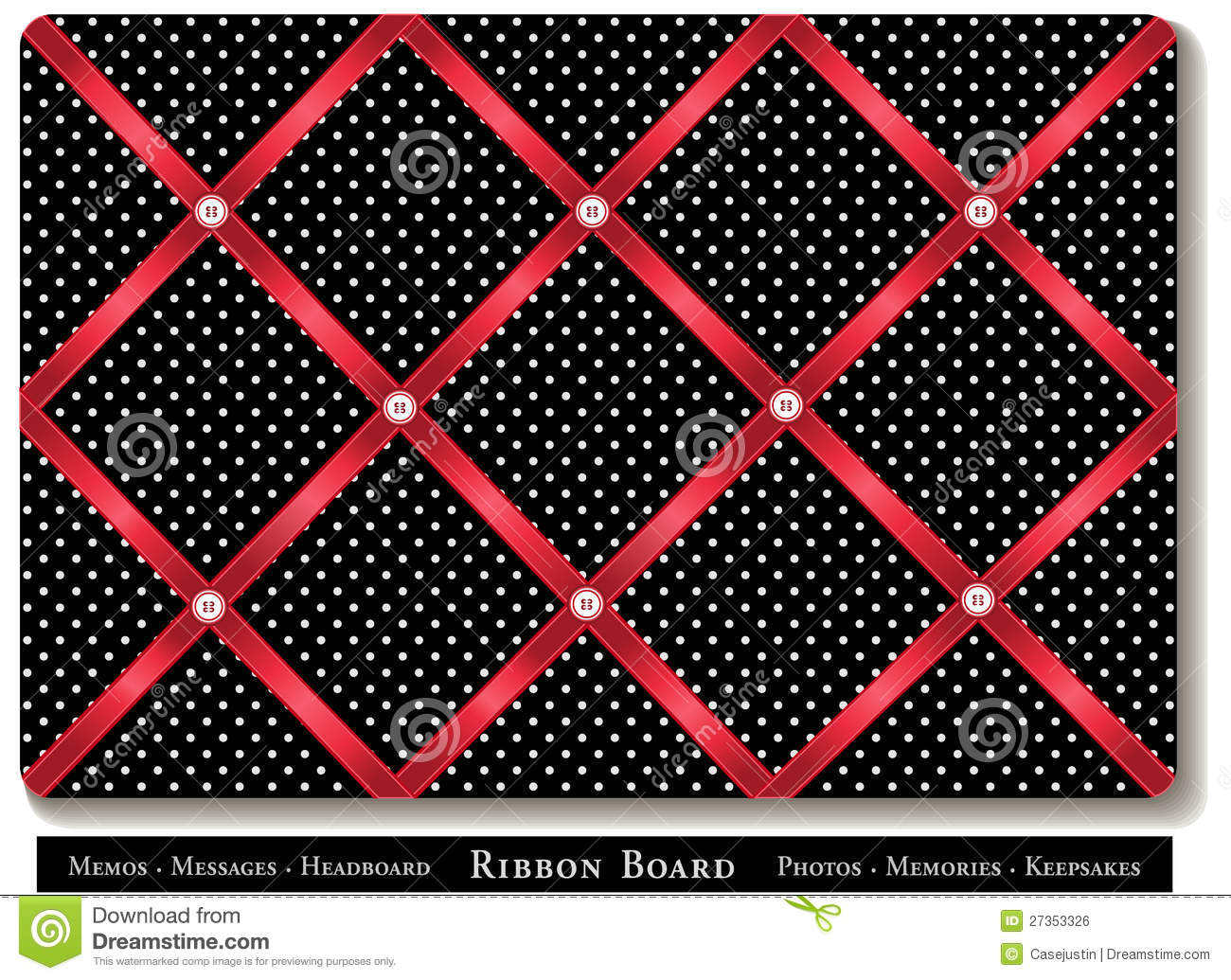 Ribbon Bulletin Board Stock Vector Image Of Cross