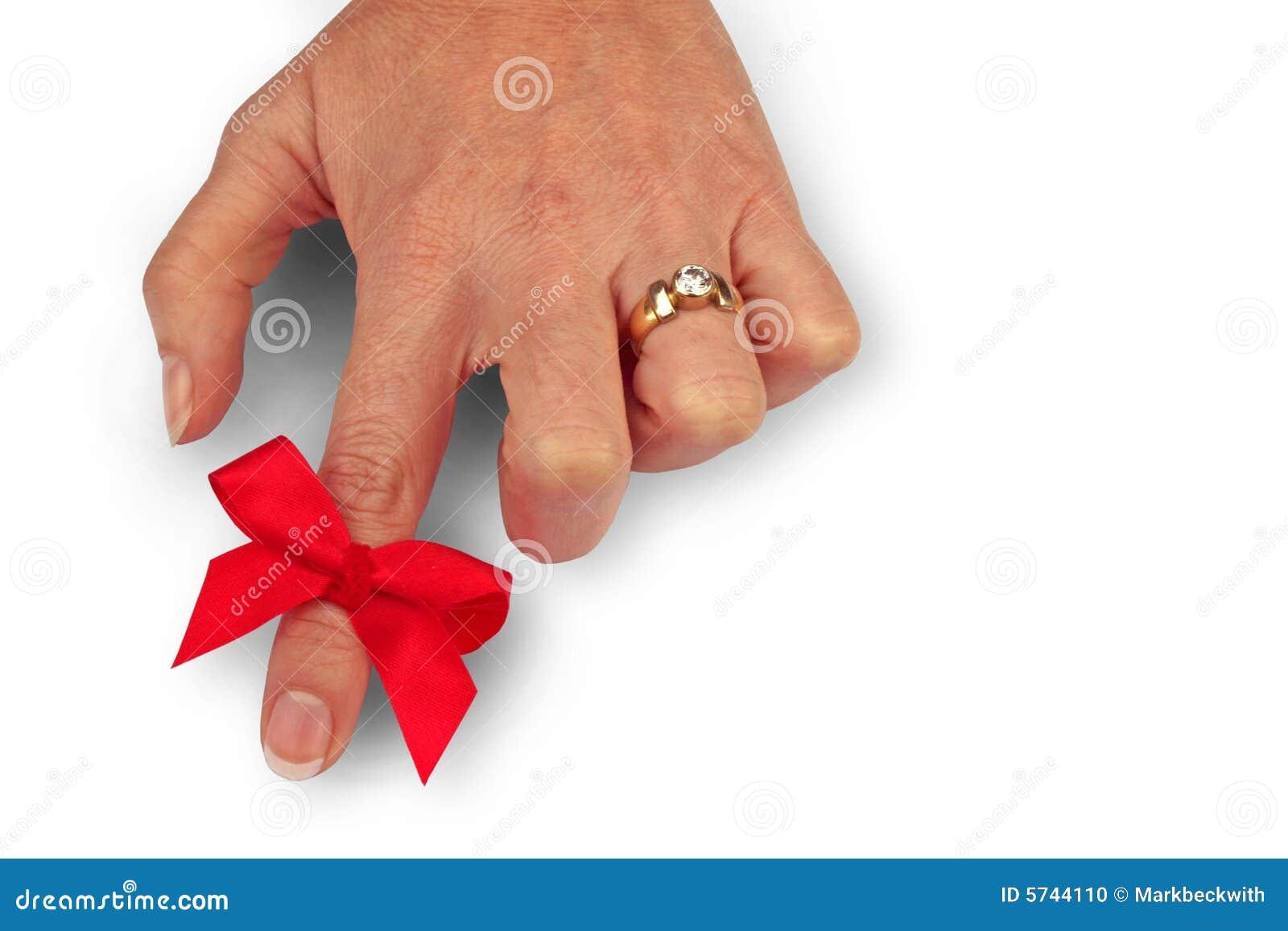 Red Ring Around Finger