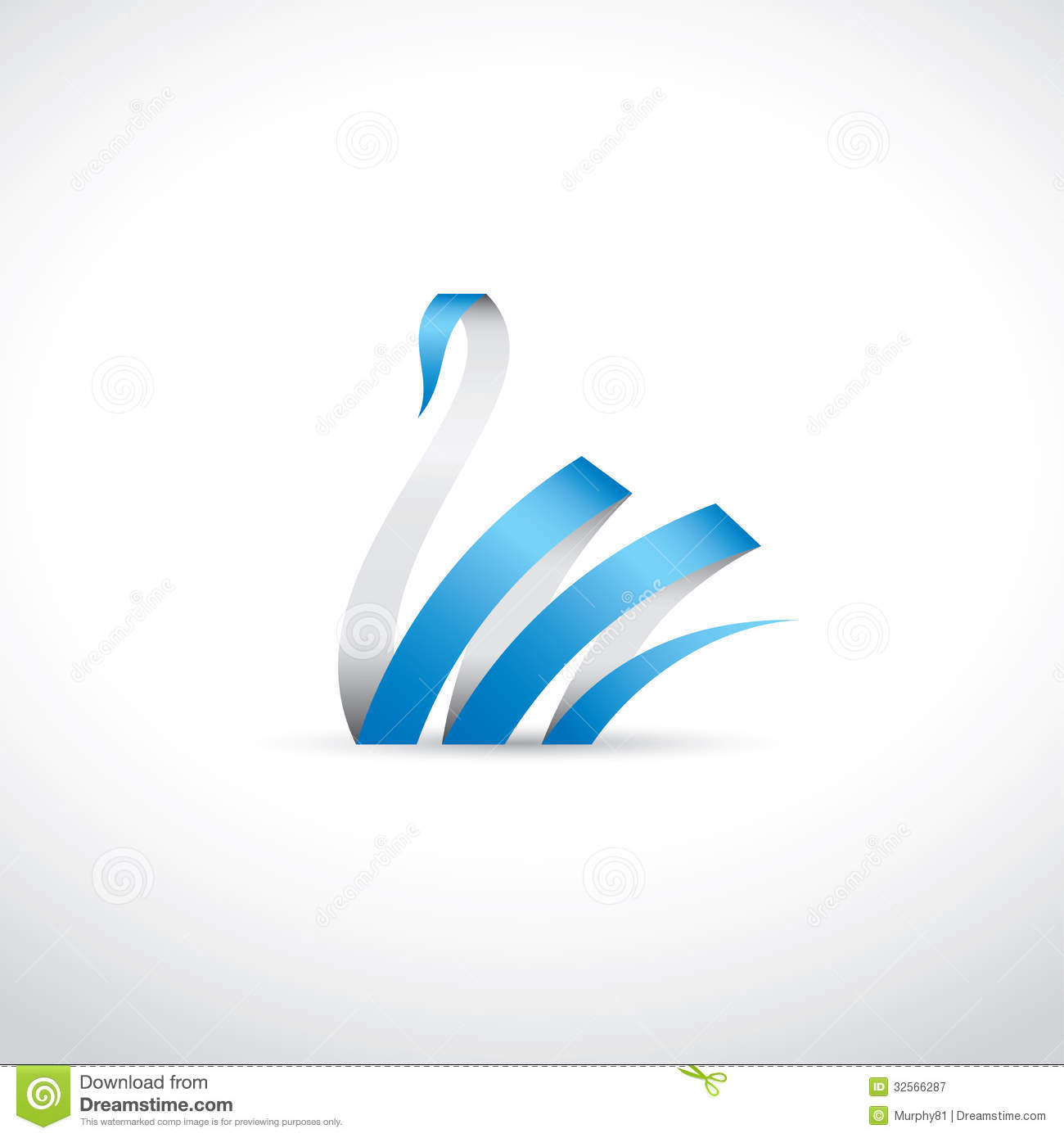 Ribbon Swan Vector Illustration Of Royalty Free Stock Photography