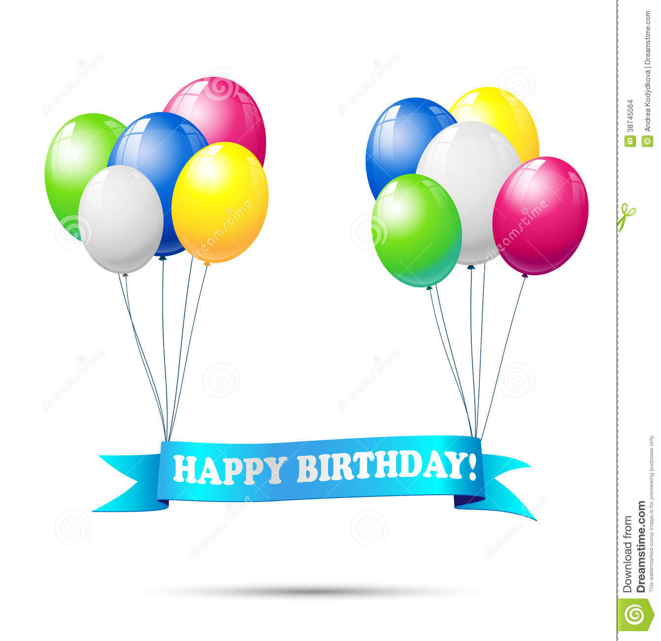 Ribbon With Text Happy Birthday Stock Images - Image: 38745564