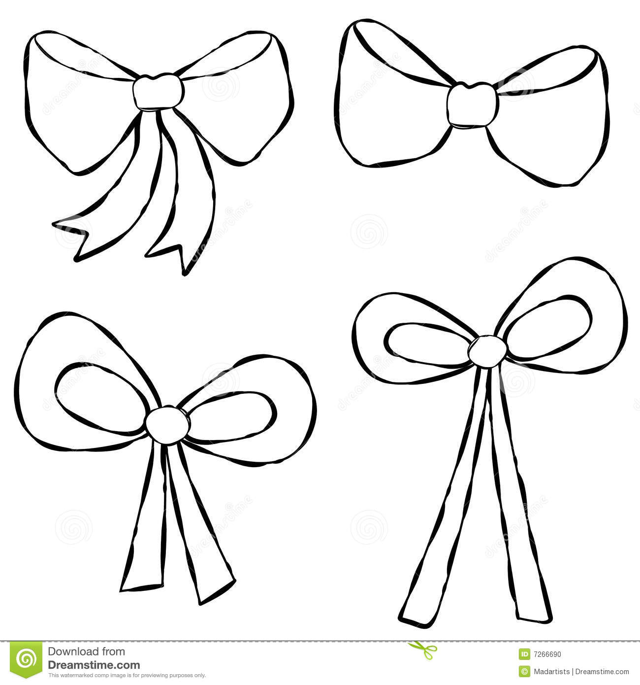 Line Art Ribbon : Pics for gt ribbon bow sketch