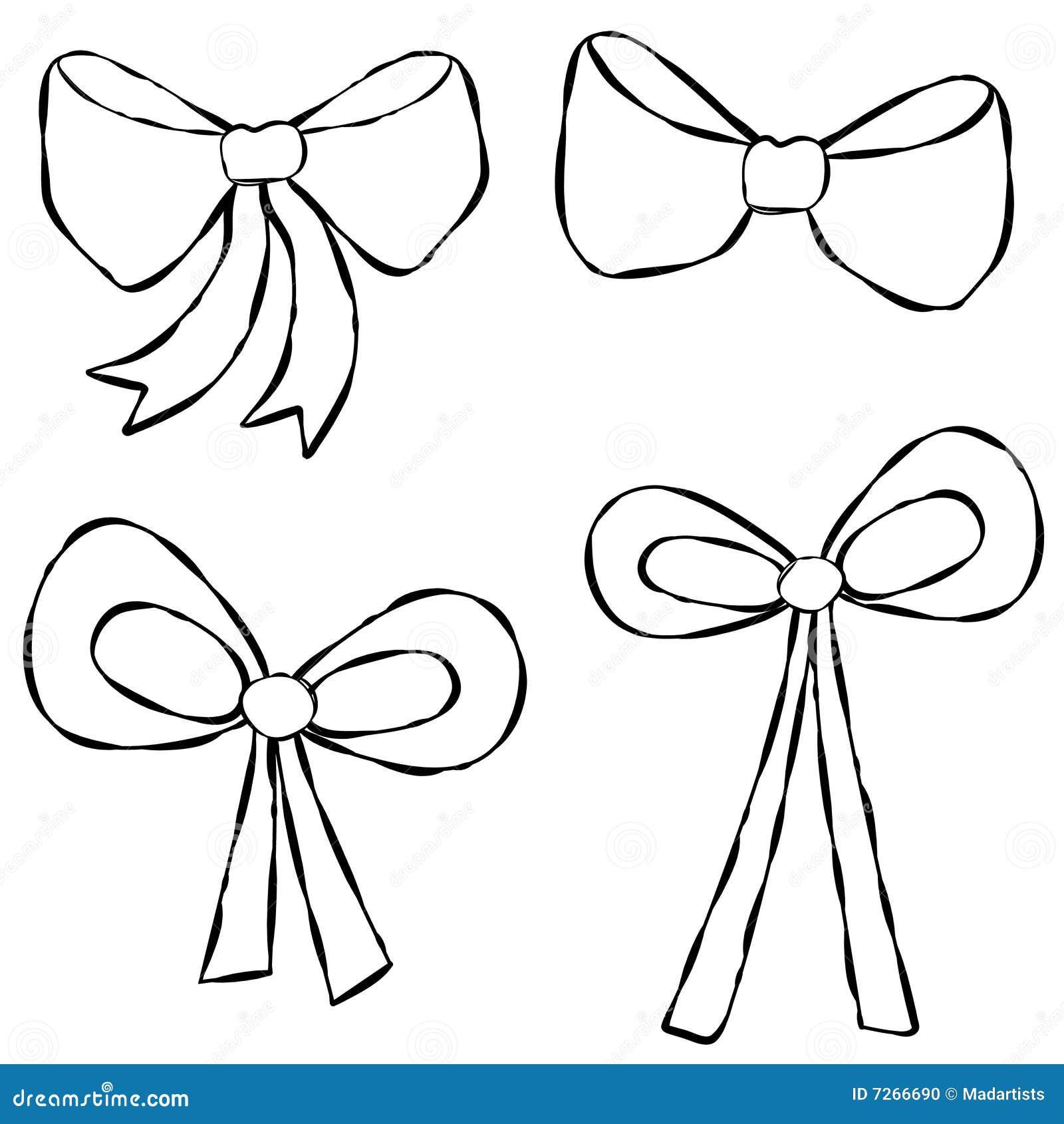 Line Art Ribbon : Ribbons bows line art stock illustration of