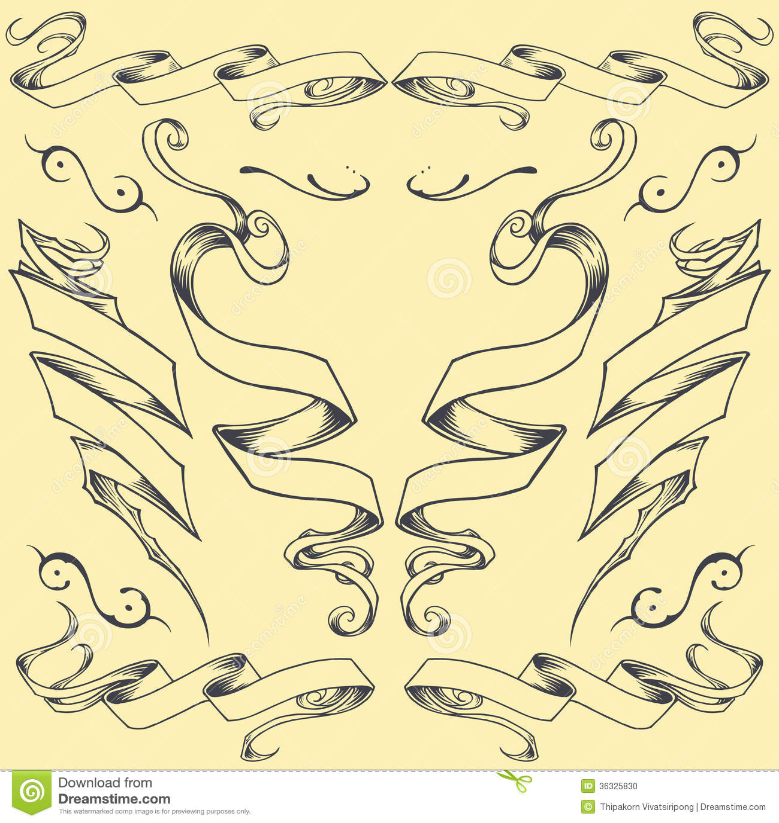 ribbons set 02 stock photo image 36325830. Black Bedroom Furniture Sets. Home Design Ideas