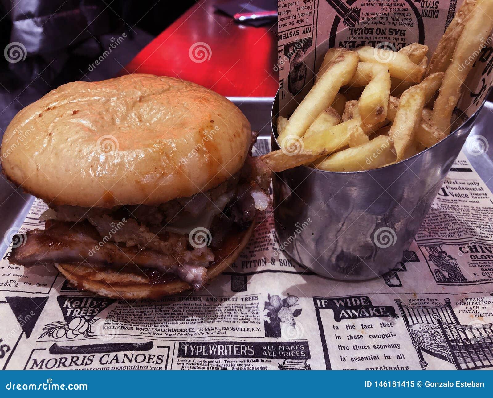 Ribs hamburger