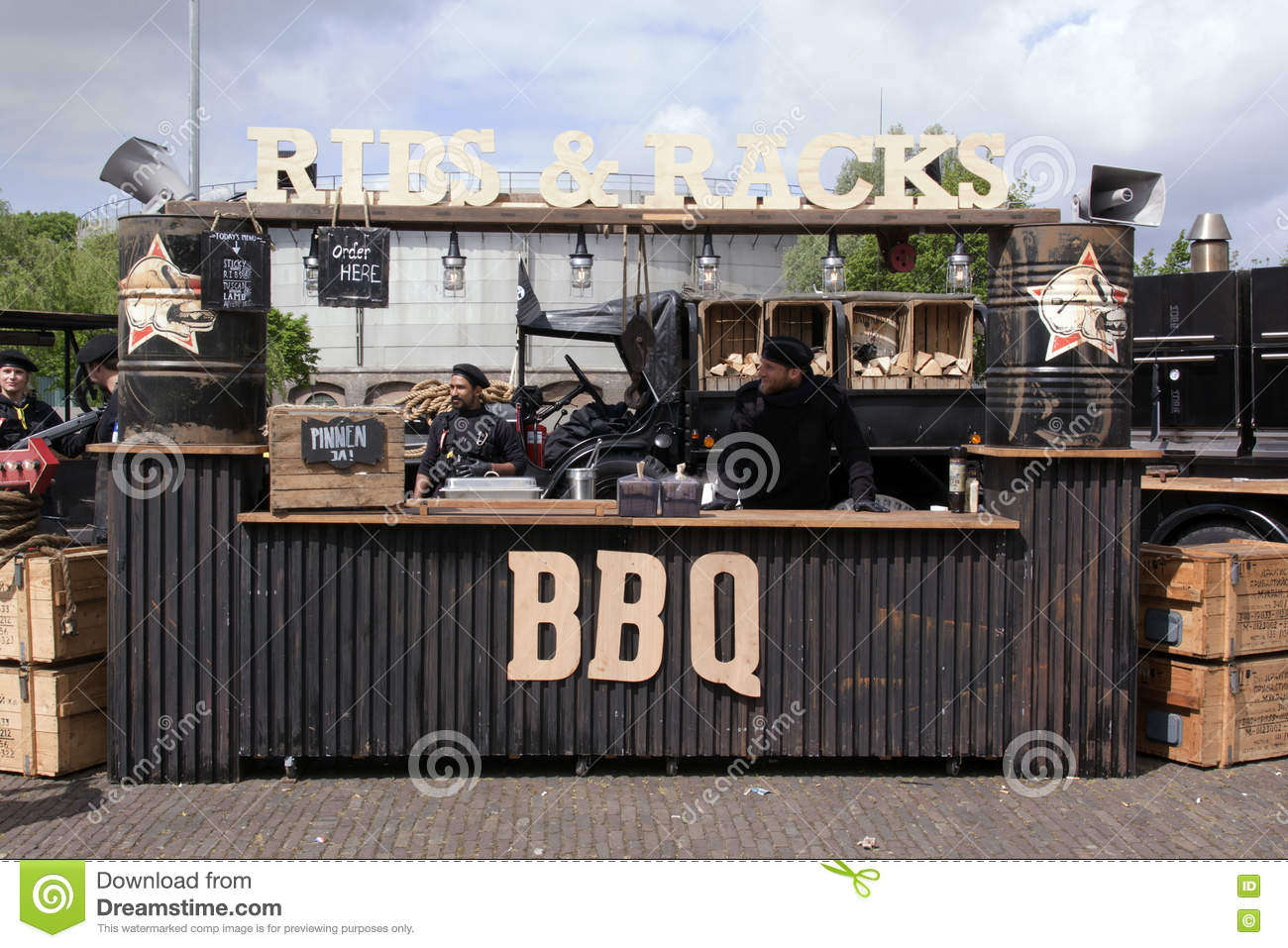 Ribs And Rack Foodtruck In Amsterdam