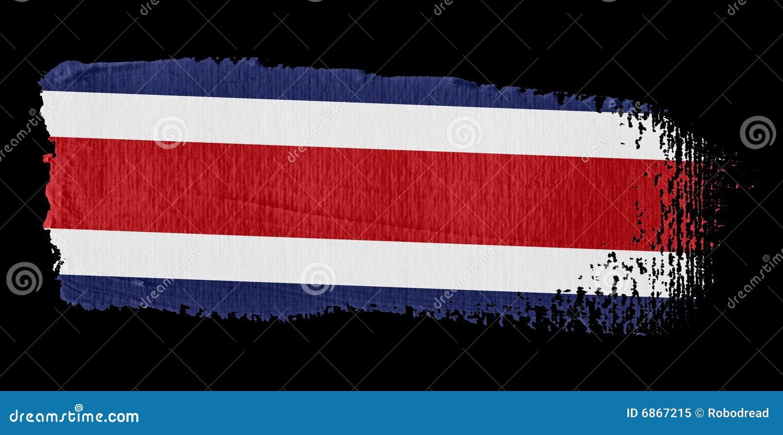 Rica флага Косты brushstroke