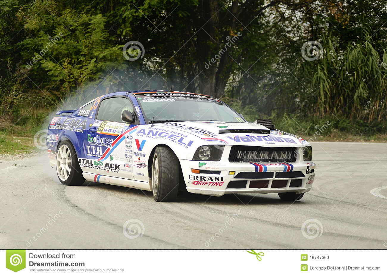Riccardo Errani Ford Mustang Rally Editorial Image