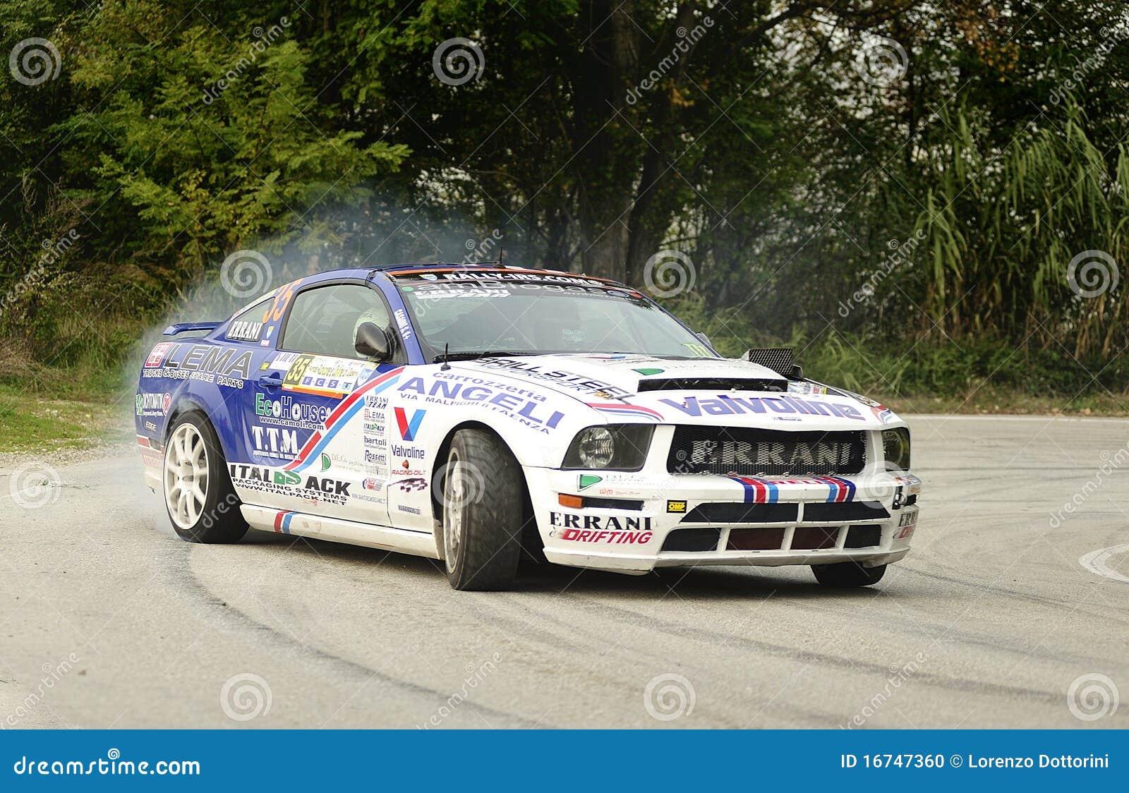 Riccardo Errani Ford Mustang Rally Editorial Image Image