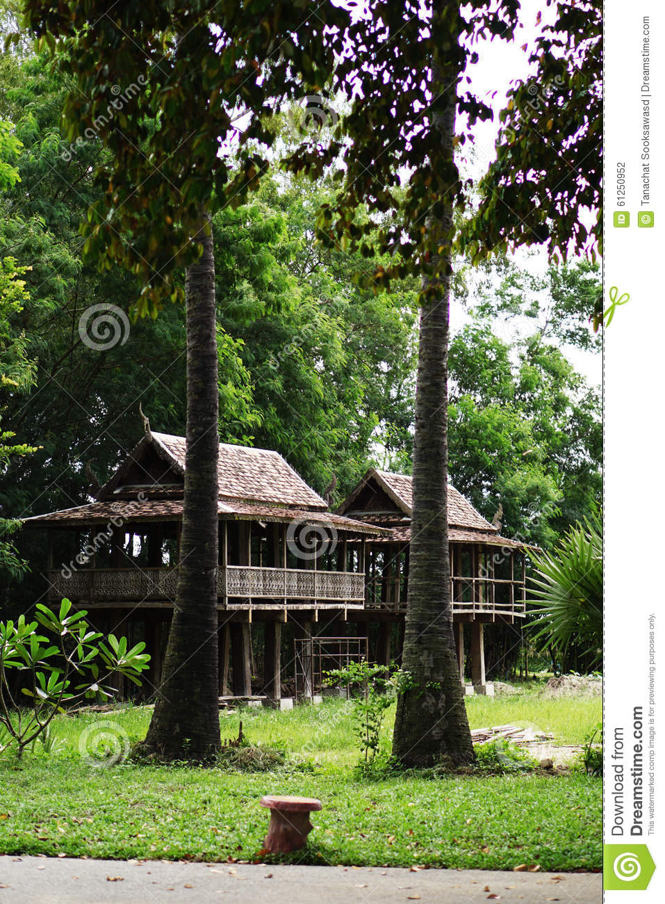 Rice Barn Chiang Mai Thailand Stock Photo Image Of Wood