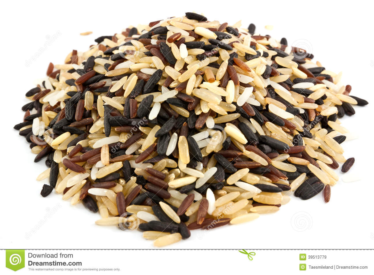 Rice blend isolated