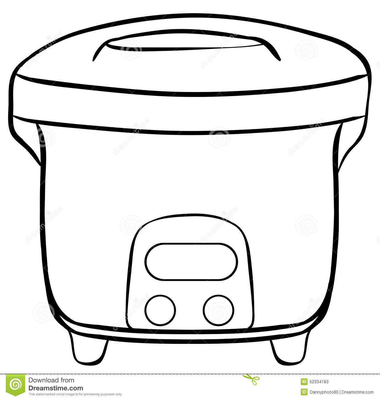 Rice Cooker Stock Vector Image 52334183