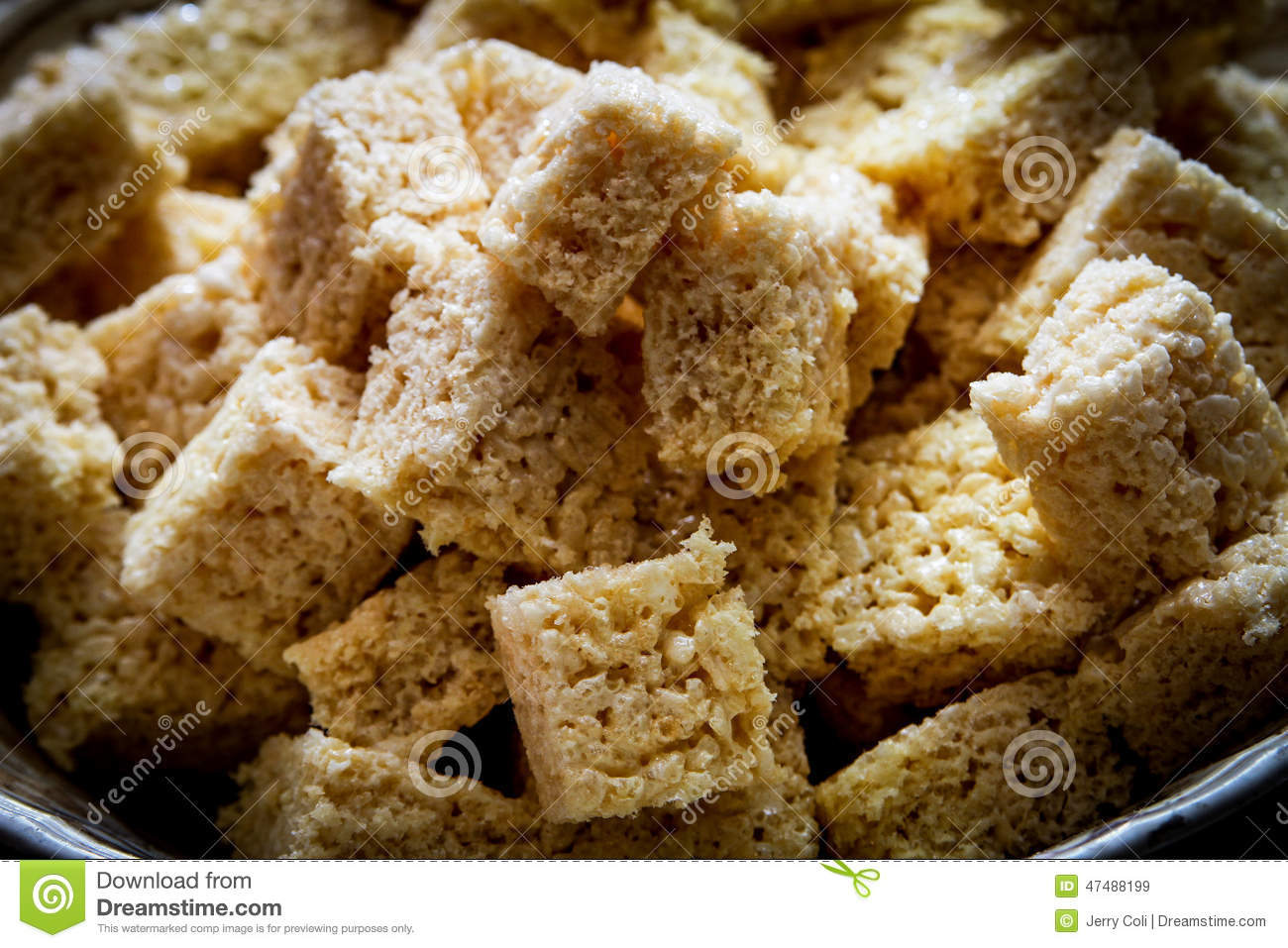 Rice Crispy Treats stock image. Image of pastry ...