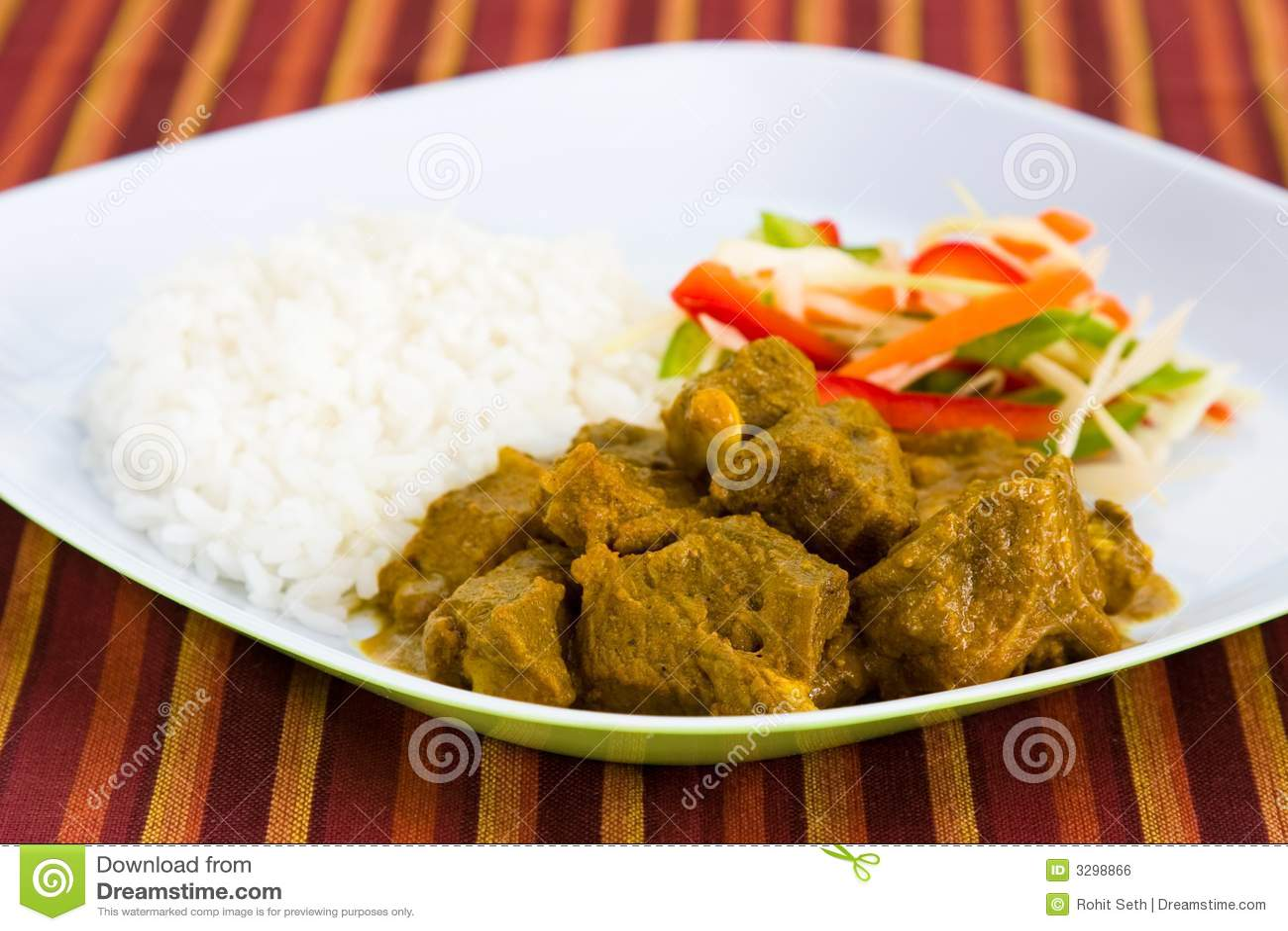 Rice för caribbecurryget