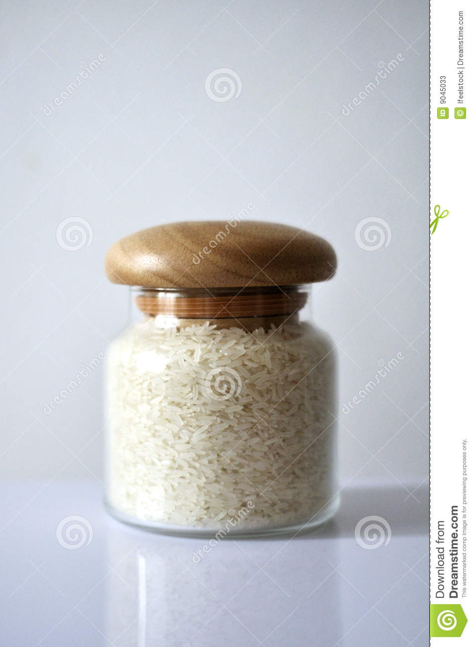 Rice in a glass jar stock image. Image of bright, garnish