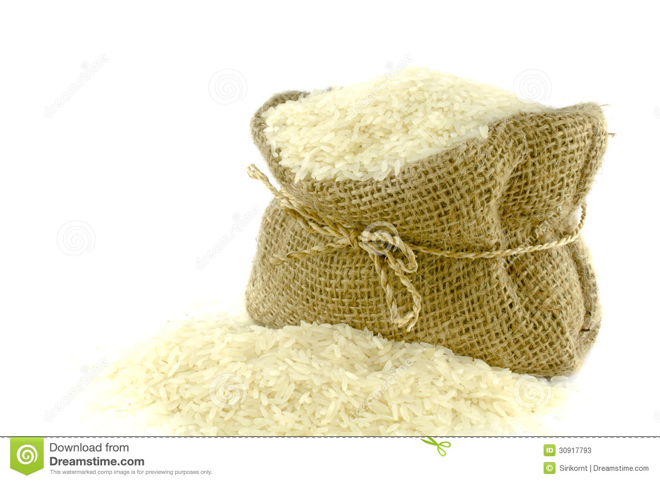 Rice in Gunny bag stock image. Image of brown, background ...