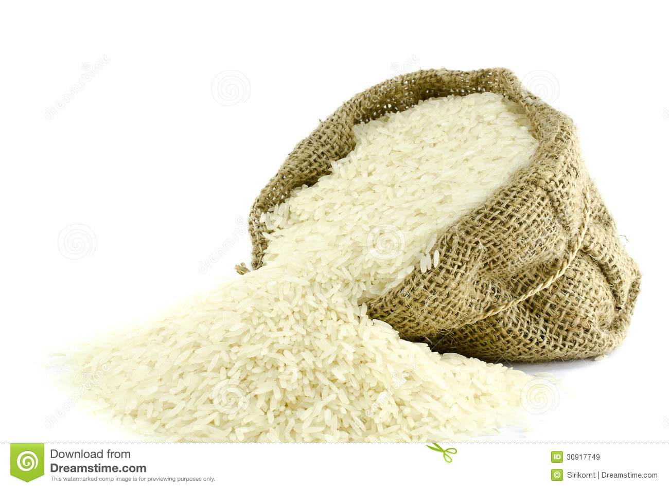 Rice In Gunny Bag Royalty Free Stock Images - Image: 30917749
