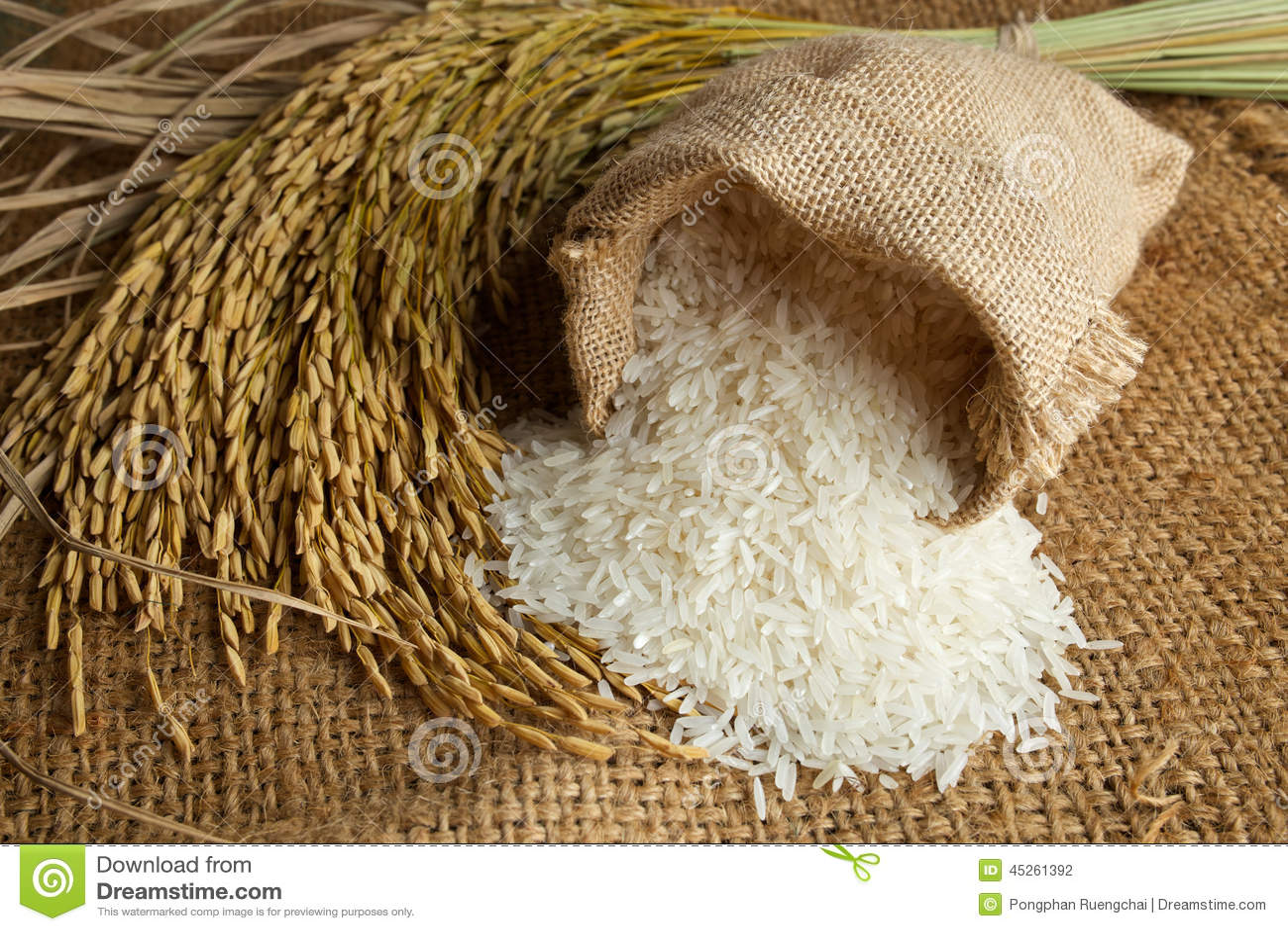 Rice i burlapsäck