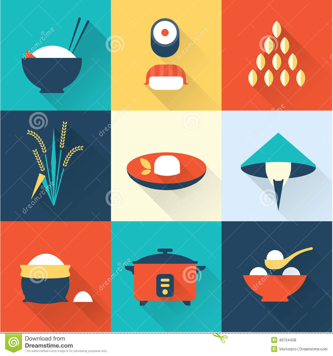 rice icons stock vector illustration of flat asian 49724458 rh dreamstime com sample vector drawings simple vector graphic