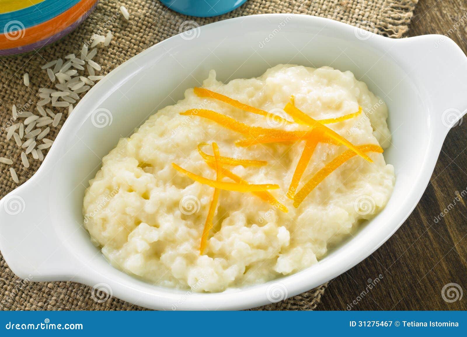 Rice Porridge Breakfast Stock Image Image Of Lemon