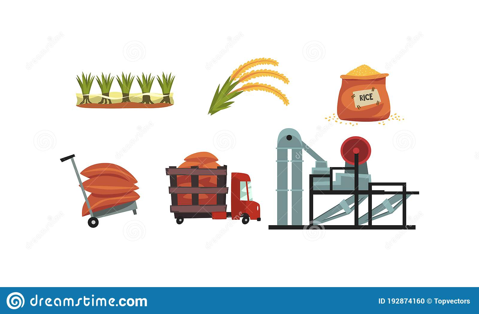 Harvesting Rice Field Cartoon Landscape Illustration, Rice, Rice, Bumper  Harvest PNG Transparent Clipart Image and PSD File for Free Download