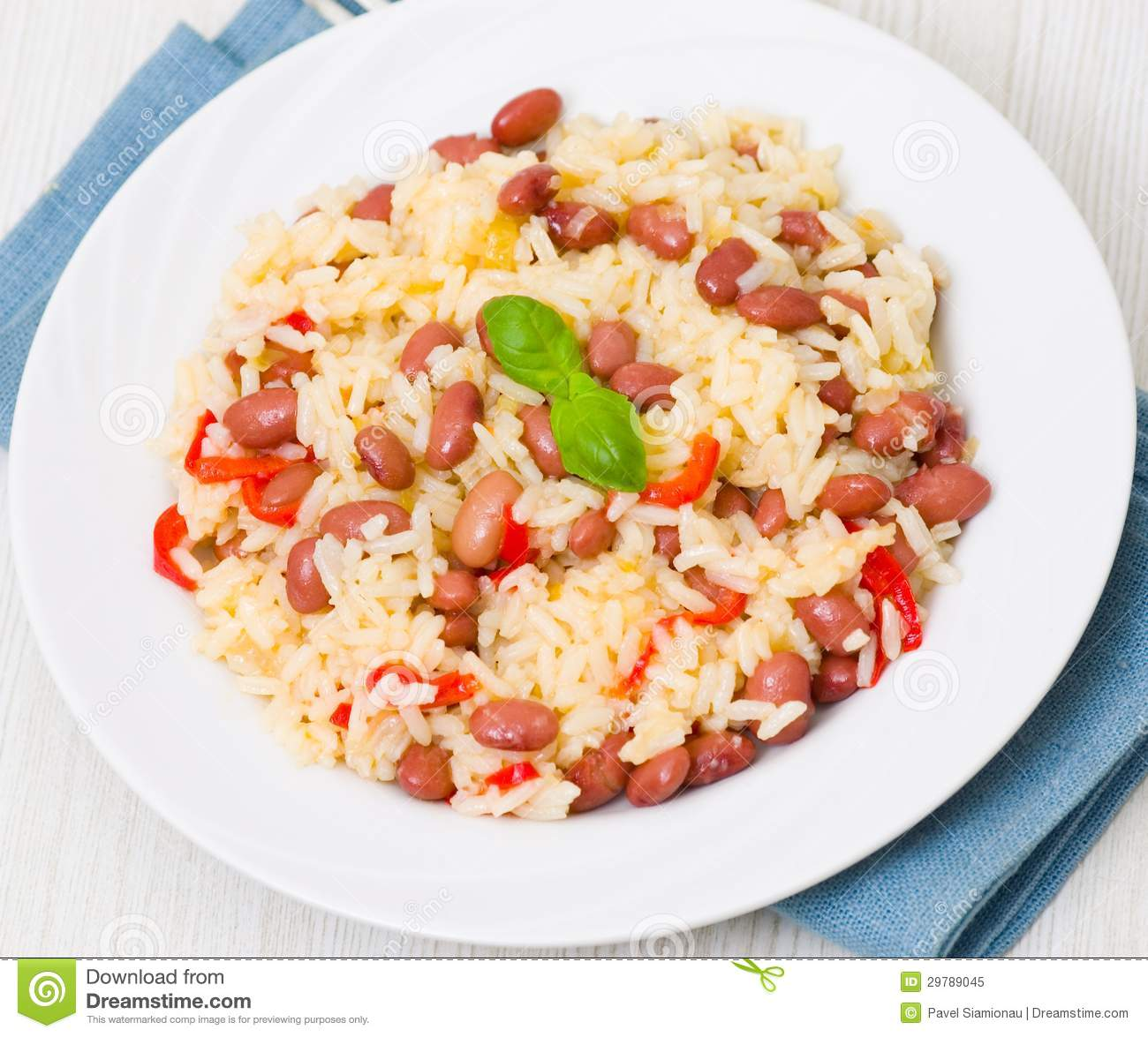 Rice and Beans Clip Art